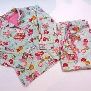 Nick & Nora macarons macaroons pj sleep pants top